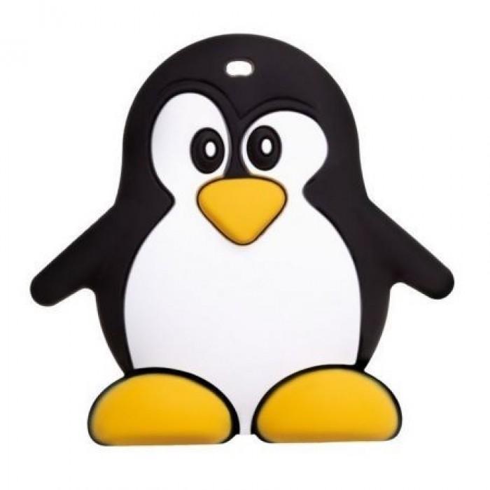 Прорезыватель силиконовый, пингвин