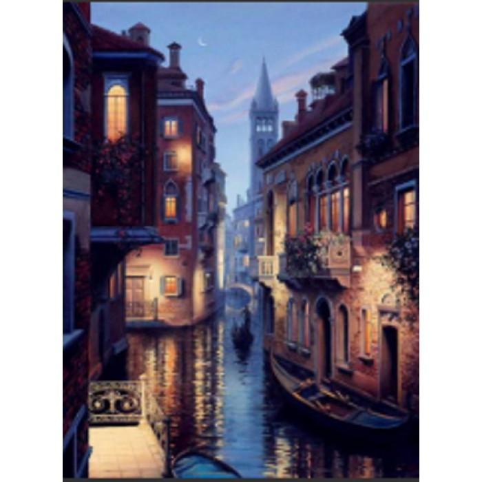 Алмазна мозаїка «Вечір у Венеції» 30 * 40см, з рамкою
