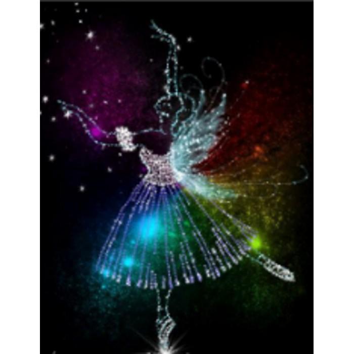 Алмазна мозаїка «Балерина» 30 * 40см, з рамкою