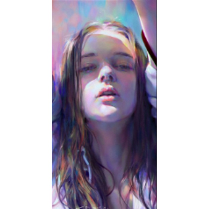 Алмазная мозаика «Радужная девушка» 30*40см, с рамкой