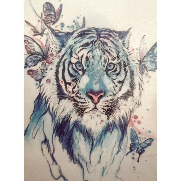 Алмазна мозаїка «Блакитний тигр» 30 * 40см, з рамкою