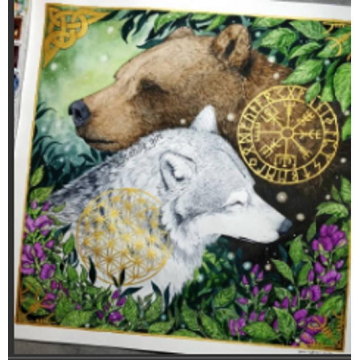 Алмазная мозаика «Лесная дружба» 30*40см, с рамкой