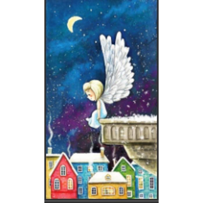 Алмазна мозаїка «Ангел на даху» 30 * 40см, з рамкою