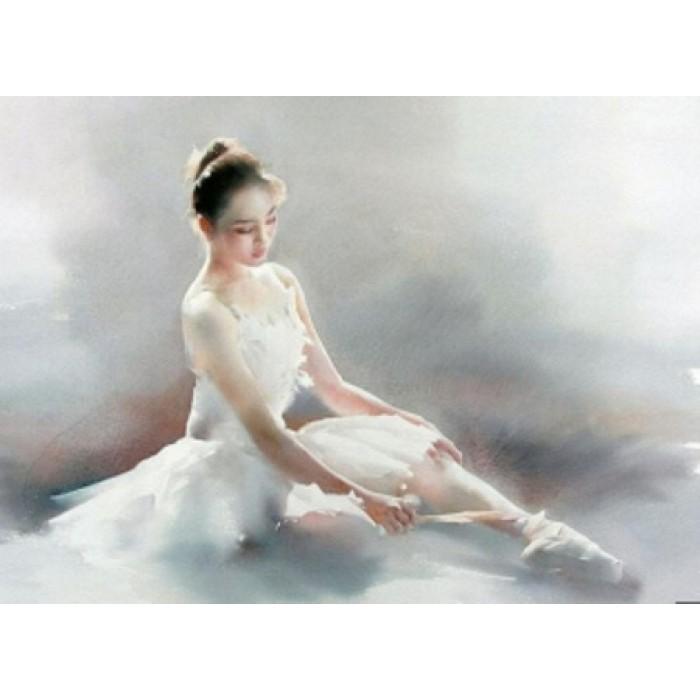Алмазна мозаїка «Балерина 2» 30 * 40см, з рамкою