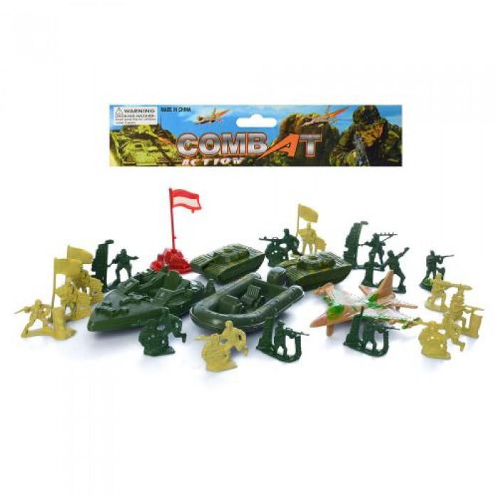 Солдаты в наборах комбат, военный транспорт, солдатики