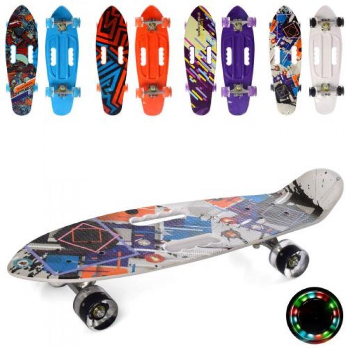 Скейт пенни, 67-20см колеса ПУ-свет