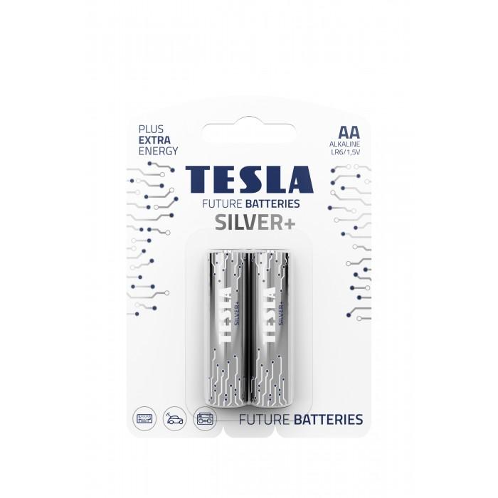 Батарейки, щелочные ЦЕНА ЗА 2ШТ, TESLA AA SILVER+ LR06