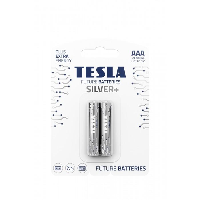 Батарейки, щелочные , ЦЕНА ЗА 2ШТ, TESLA AAA SILVER+ LR03