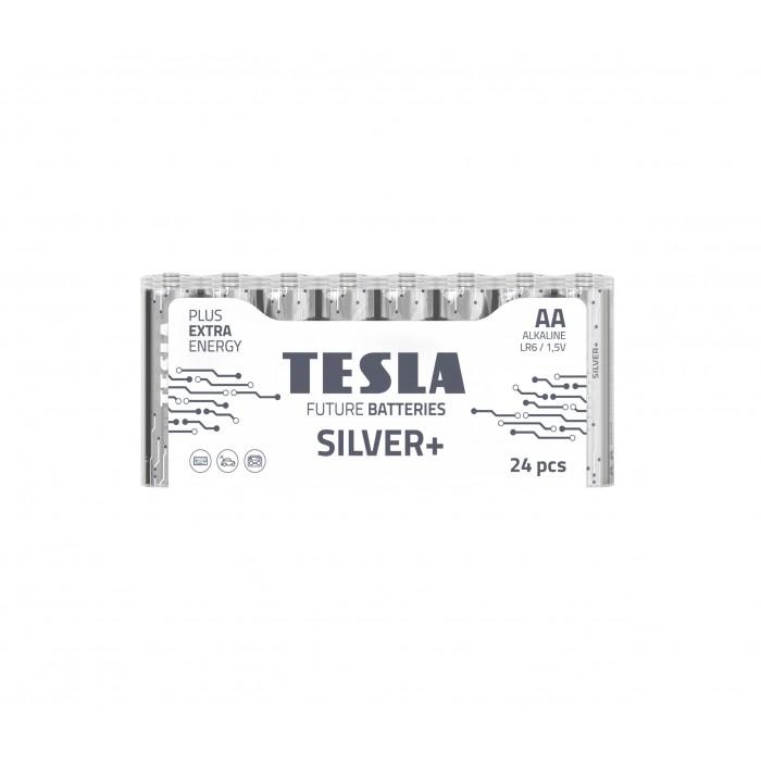 Батарейки, щелочные ЦЕНА 24ШТ, TESLA AA SILVER+ LR06