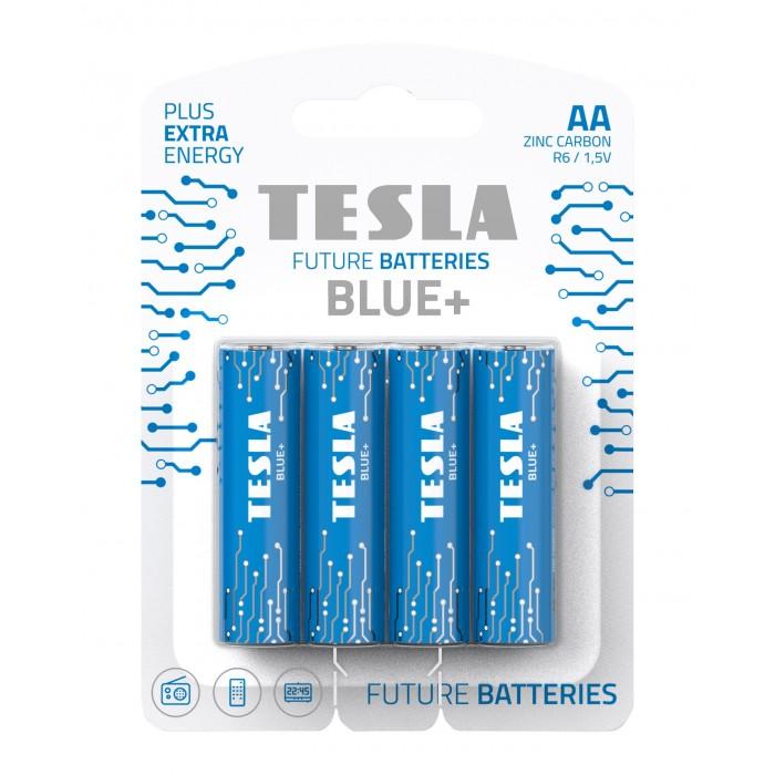 Батарейки угольно-цинковыеAA BLUE+ R06, ЦЕНА ЗА УП. 4ШТ