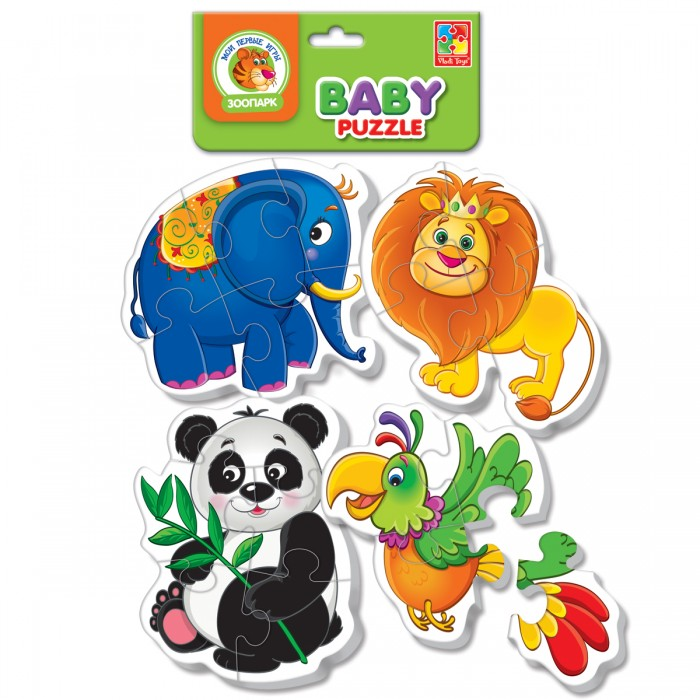 Беби пазлы «Зоопарк»