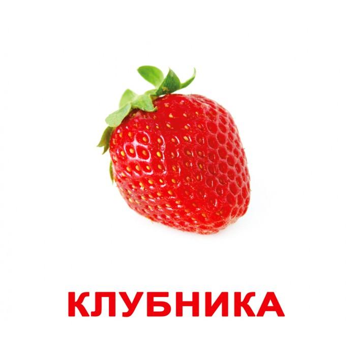 Карточки большие русские с фактами, ламинированные «Ягоды»