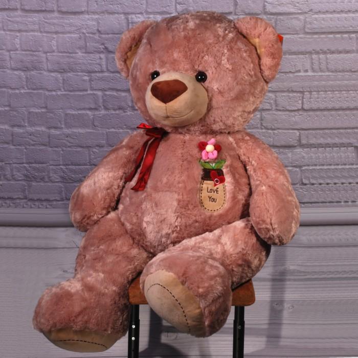 Игрушка мягкая «Медведь Бублик», муз., 110см