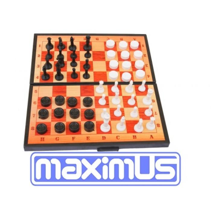 Шашки 3в1, шашки + шахматы + нарды