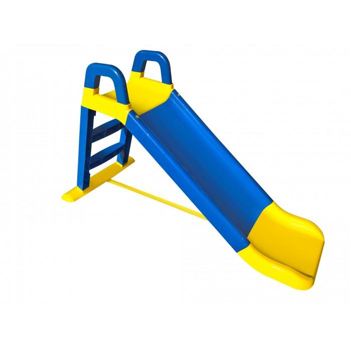 Горка для катания детей, 140см, сине- желтая