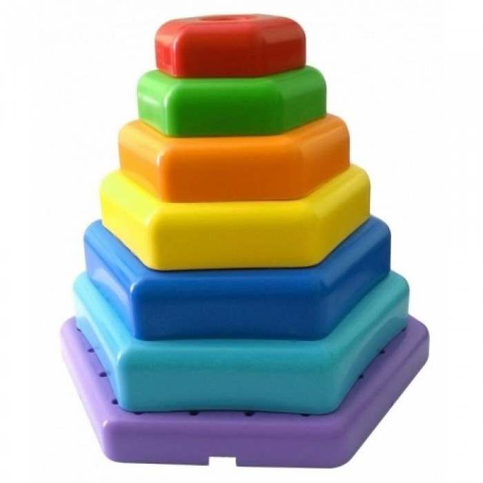 Игрушка развивающая «Радужная пирамида» 7 деталей