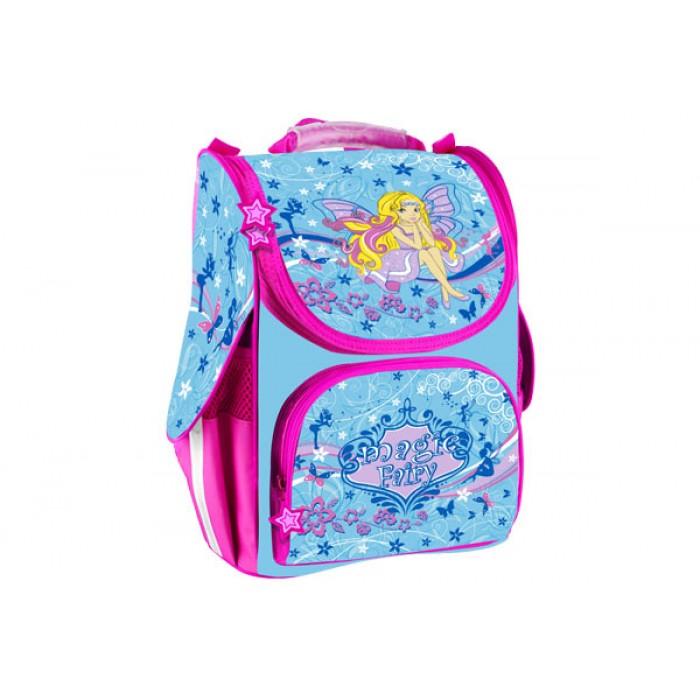 Рюкзак школьный каркасный, 1 основное отделение +1 впереди