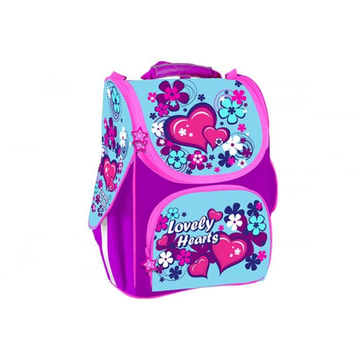 Рюкзак школьный «Lovely hearts», каркасний, 1 основное отдел