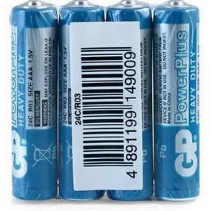 Батарейка GP 24C-S4 солевая R03, AAA, ЦЕНА ЗА УП. 40ШТ