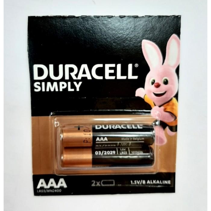 Батарейка DURACELL Turbo LR03 AAА, ЦЕНА ЗА УП. 2ШТ
