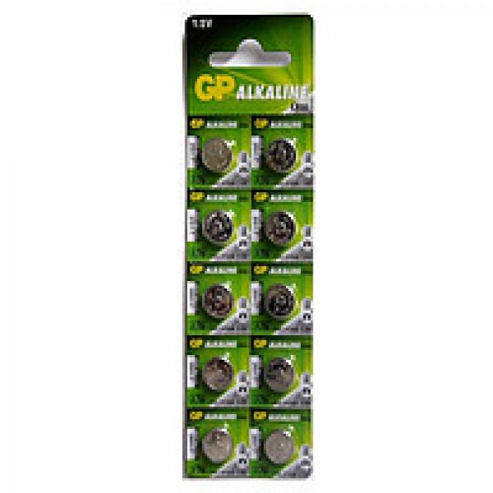 Батарейка GP дискова Alkaline button cell.1.5V A76F-U10 10ШТ