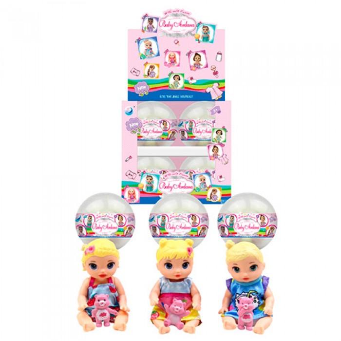 Кукла 11см в шаре 9см, мишка 3,5см, ЦЕНА ЗА 1ШТ