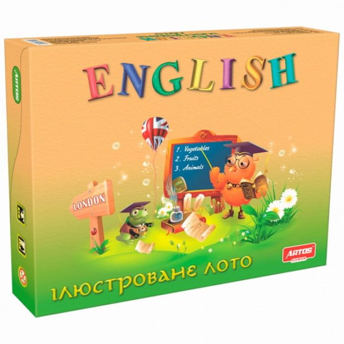Игра настольная развививающая лото «Английский язык»