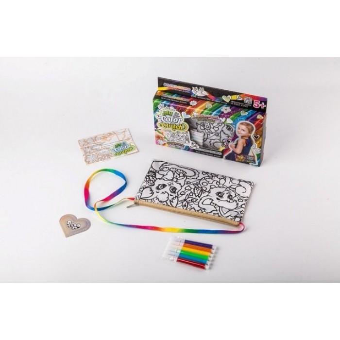 Клатч-пенал раскраска «My Color Clutch», с фломастерами