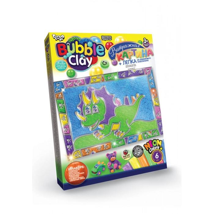 Витражная картина «Bubble Clay» Динозаврик из пластилина