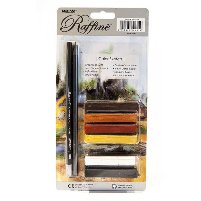 Художественный набор 6 цветов, 2 карандаша, на блистере