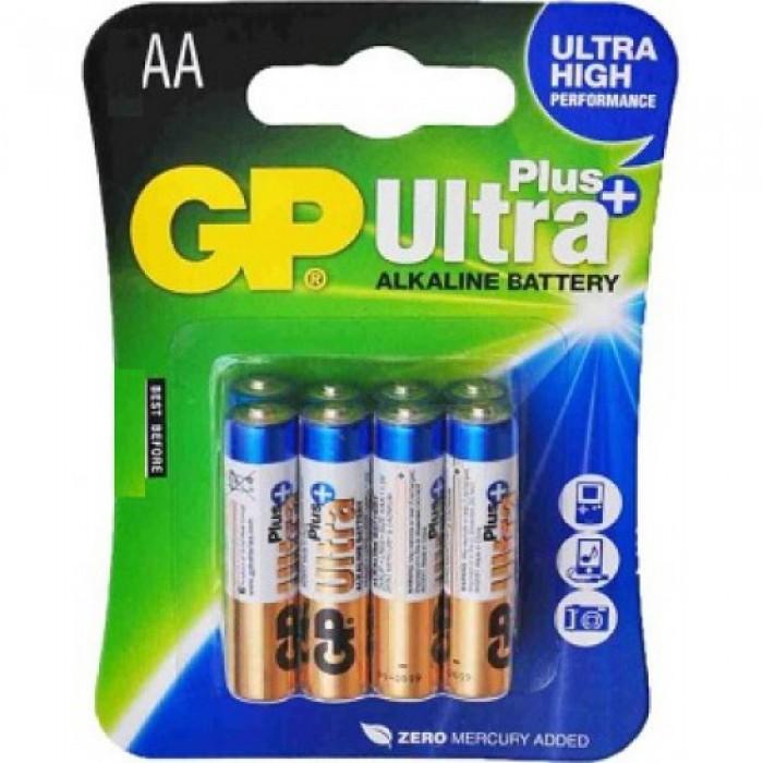 Батарейка GP ULTRA+ALKALINE LR6, AA, 1.5V, ЦЕНА ЗА УП.4ШТ