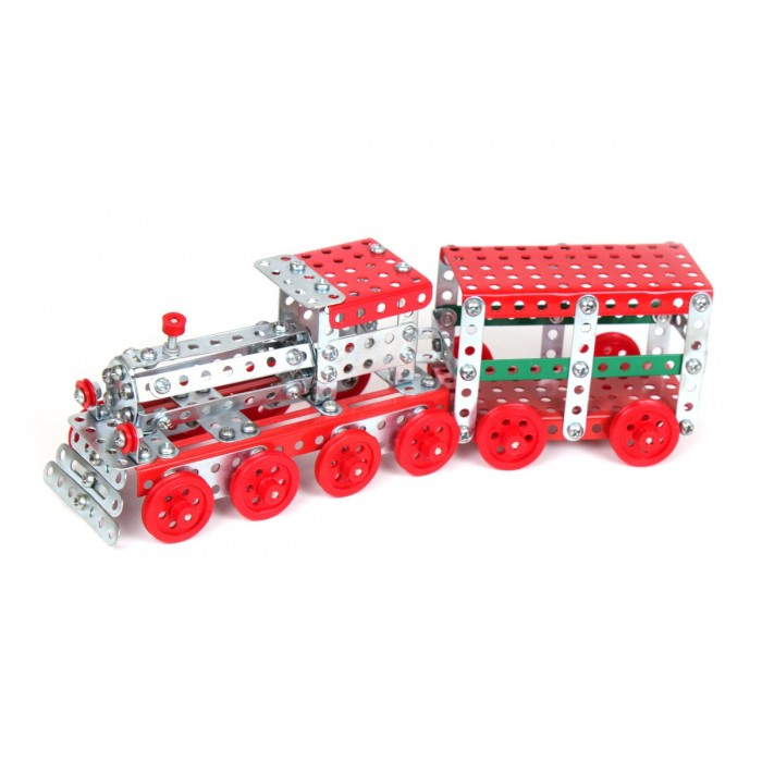 Конструктор металлический «Поезд», 312 деталей