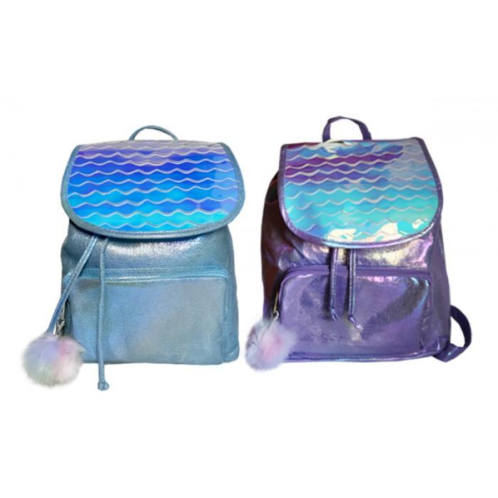 Рюкзак на затяжках , фиолетово-голубой