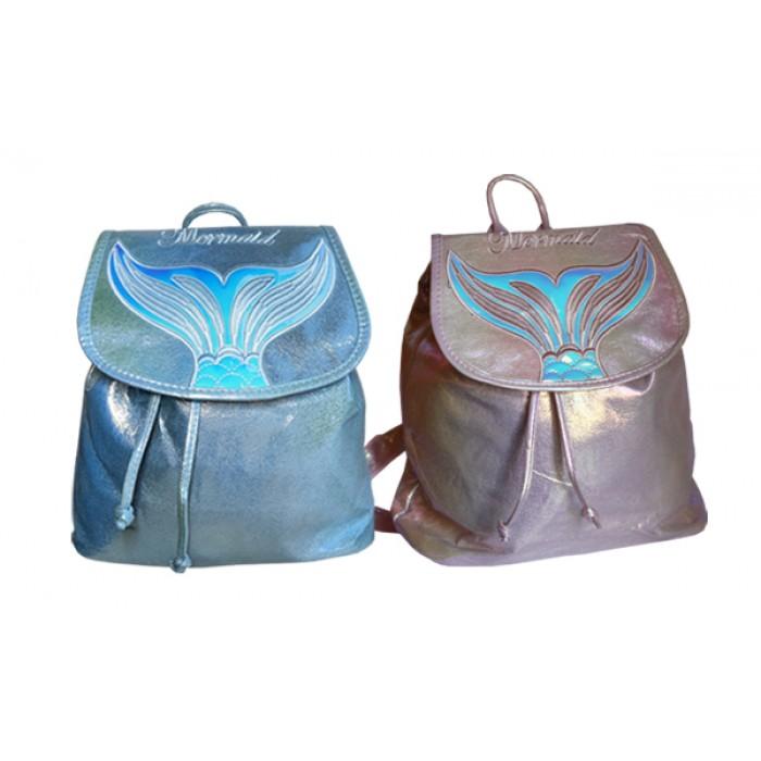 Рюкзак на затяжках , голубой, розовый