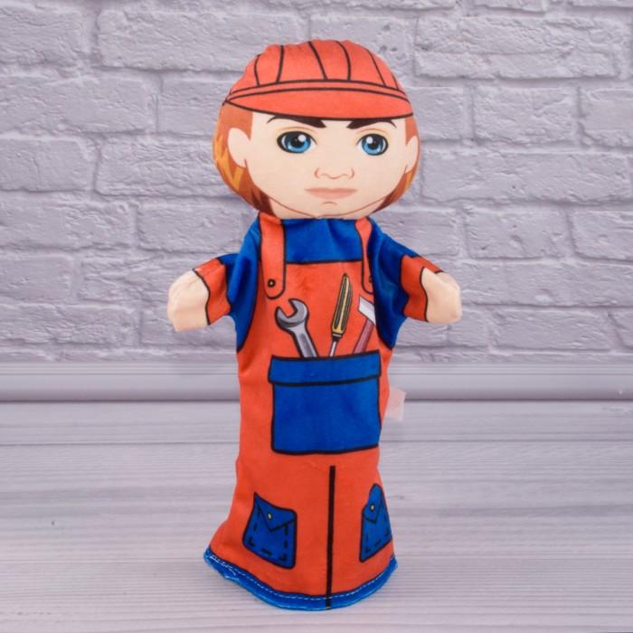 Кукла-рукавичка «Строитель», высотой 30см