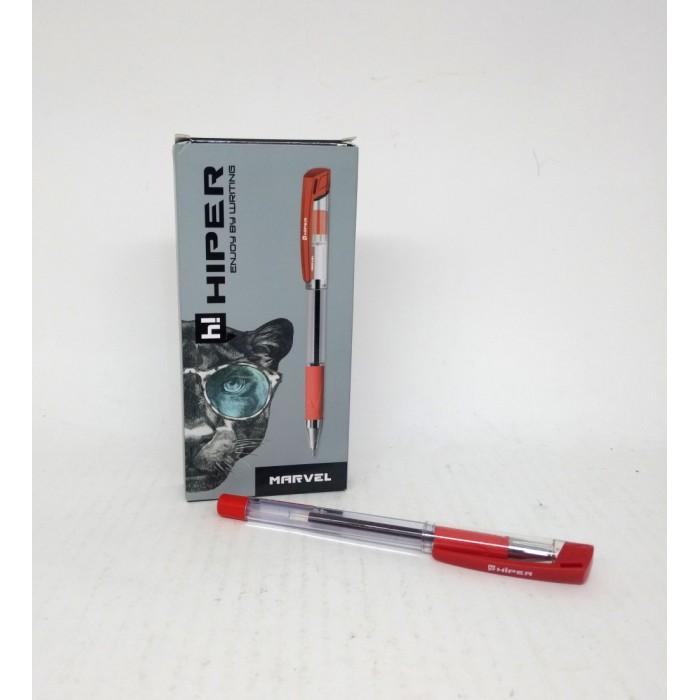 Ручка гелевая Hiper Marvel, красная 1мм, цена за уп. 10шт
