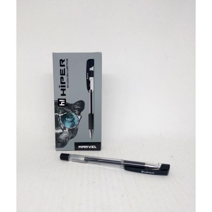 Ручка гелевая Hiper Marvel, 1мм, черная, цена за уп. 10шт