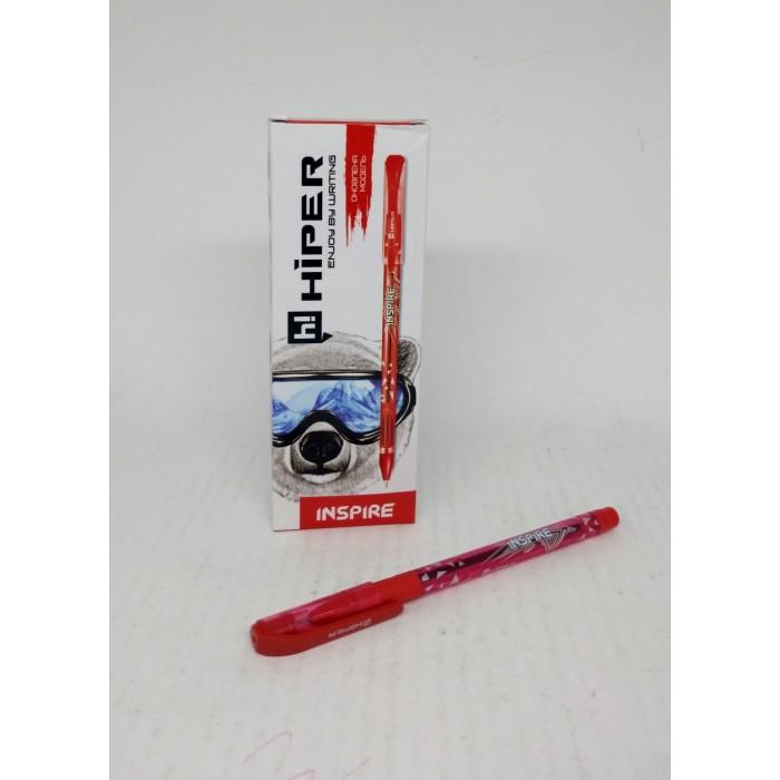 Ручка маслянная Hiper Inspire, 0,7мм, красная, цена за 10шт