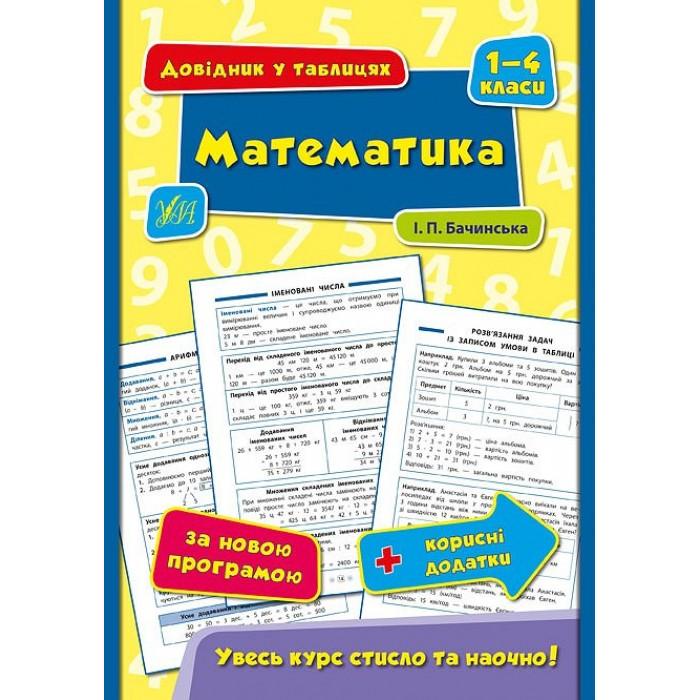 Книга «Довідник у таблицях. Математика. 1–4 класи»