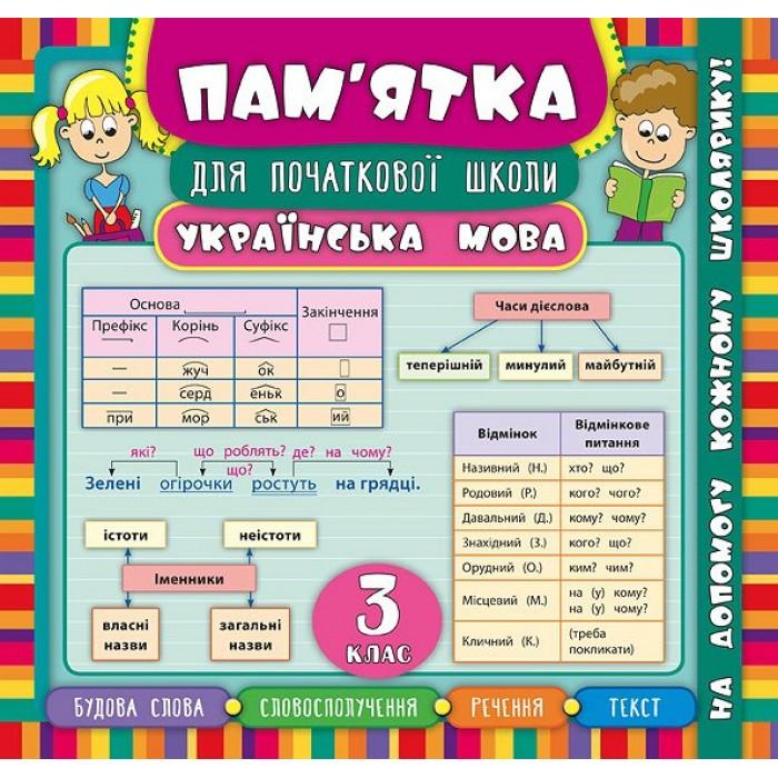 Книга «Пам'ятка для початкової школи. Українська мова. 3 кл»