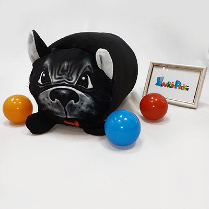 Мягкая игрушка антистресс Валик «Пес Ротвейлер», 20*30см