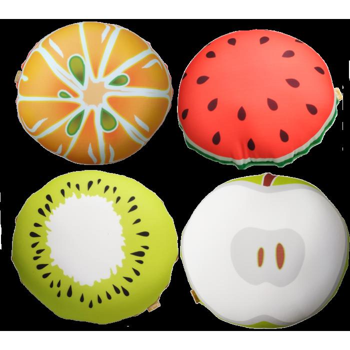 Мягкая игрушка антистресс Смайл-фрукты, 35*35см