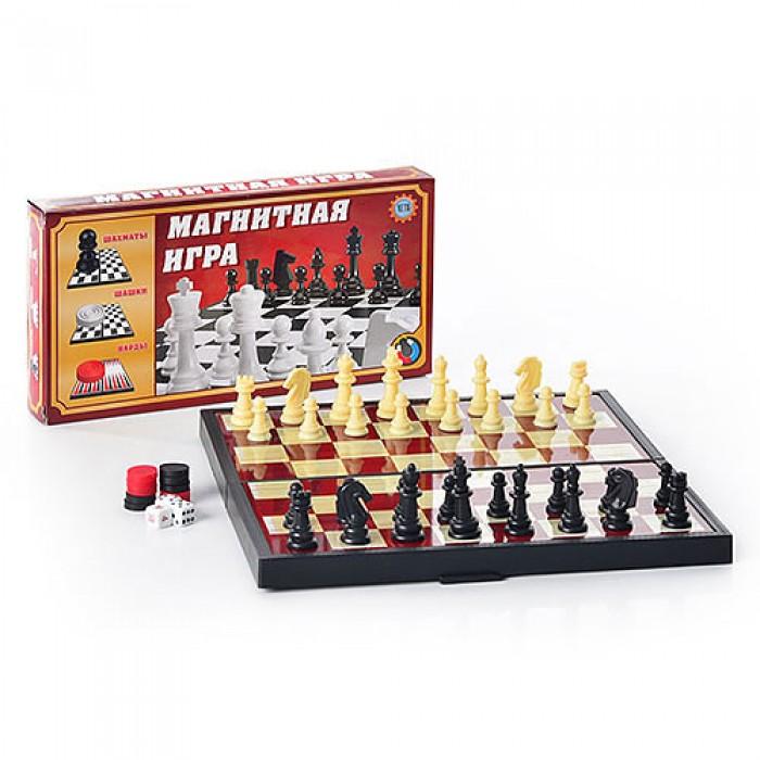 Шахматы, 3 в 1 средние
