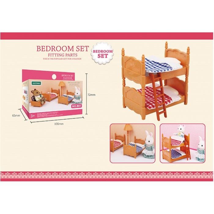 Животные флоксовые Двухъярусная кровать «Happy Family»