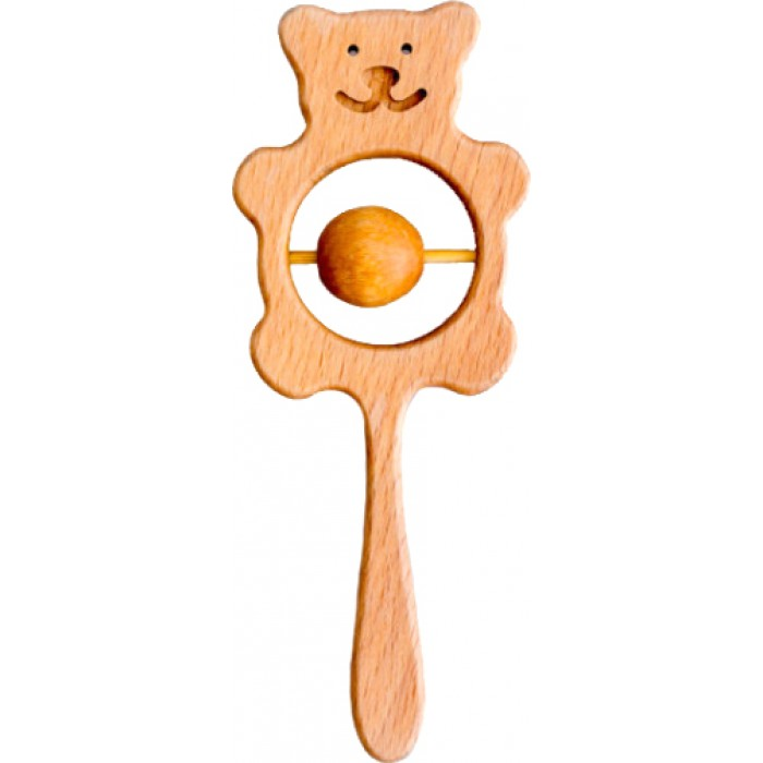 Деревянная погремушка «Мишка»