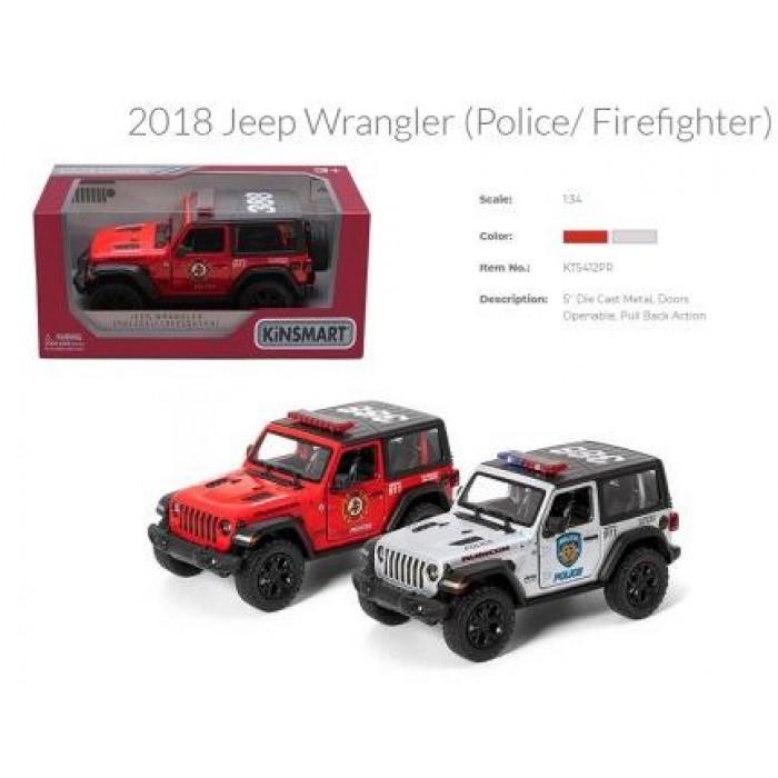 Машина «Kinsmart» Jeep Wrangler Police/Firefighter