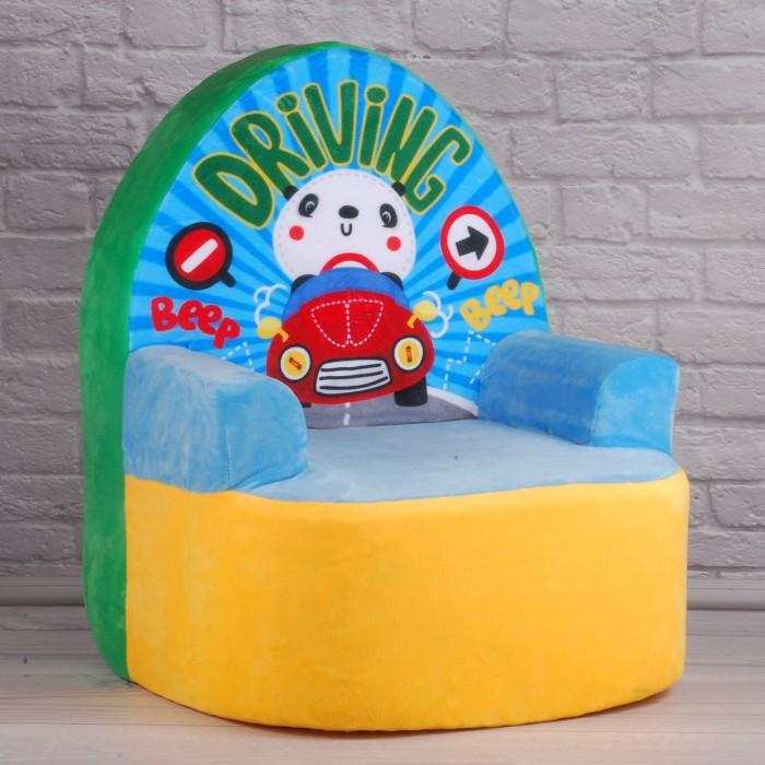 Кресло детское «С машинкой», 40*40*58см