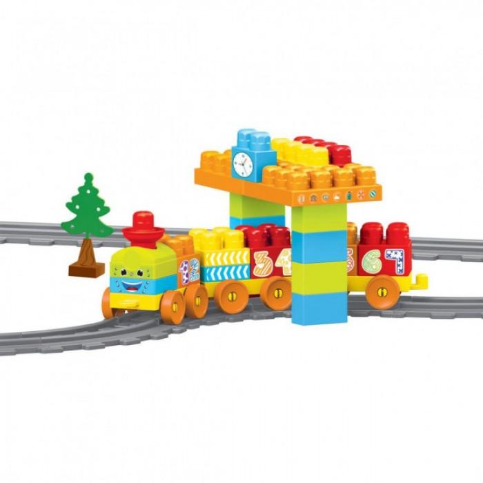 Конструктор Baby Blocks Мои первые кубики Железная дорога 2,