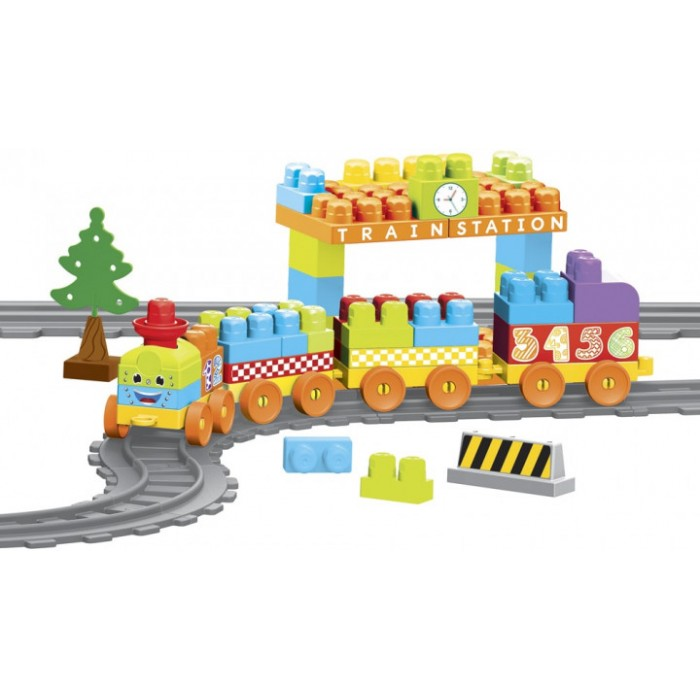 Конструктор Baby Blocks Мои первые кубики Железная дорога 3,