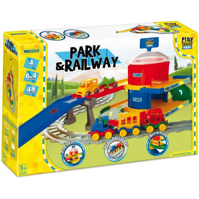 Железная дорога Play Tracks вокзал 6.4м